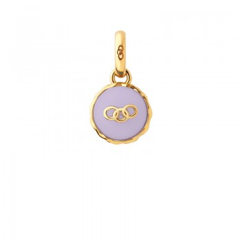 Links Of London 18kt Yellow Gold Vermeil Lavender Macaron Charm