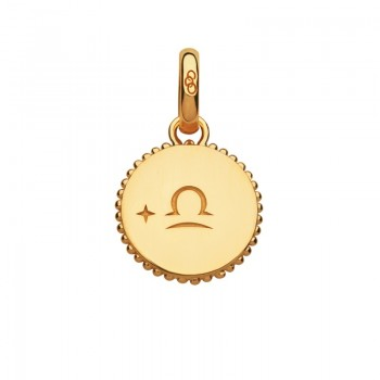 Links Of London 18kt Yellow Gold Vermeil Libra Zodiac Charm