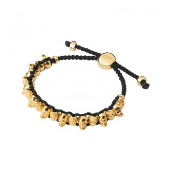 Links Of London 18kt Yellow Gold Vermeil Skull Friendship Bracelet