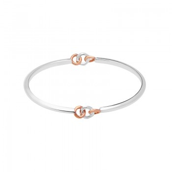 Links Of London 20/20 Sterling Silver & 18kt Rose Gold Bangle