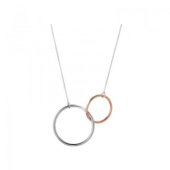 Links Of London 20/20 Sterling Silver & 18kt Rose Gold Double Loop Necklace