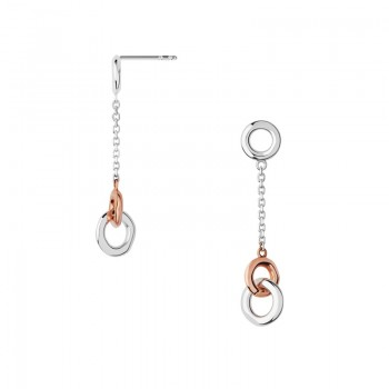 Links Of London 20/20 Sterling Silver & 18kt Rose Gold Drop Earrings