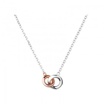 Links Of London 20/20 Sterling Silver & 18kt Rose Gold Mini Necklace
