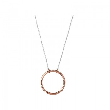 Links Of London 20/20 Sterling Silver & 18kt Rose Gold Single Loop Necklace