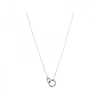 Links Of London 20/20 Sterling Silver & 18kt Yellow Gold Necklace