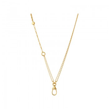 Links Of London Amulet 18kt Yellow Gold Vermeil Carabiner Necklace