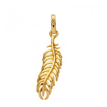 Links Of London Amulet 18kt Yellow Gold Vermeil Feather Charm