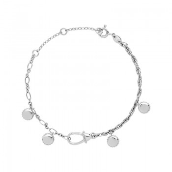 Links Of London Amulet Sterling Silver Carabiner Bracelet