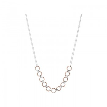 Links Of London Aurora Bi-Metal Multi Link Necklace