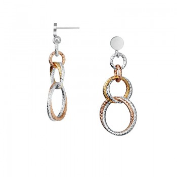 Links Of London Aurora Double Mixed Metal Link Earrings