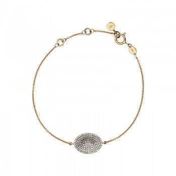 Links Of London Concave 18kt Yellow Gold Vermeil & Diamond Bracelet