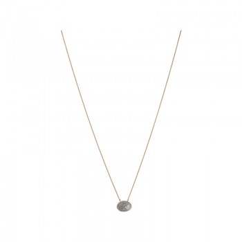 Links Of London Concave 18kt Yellow Gold Vermeil & Diamond Necklace