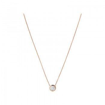 Links Of London Diamond Essentials 18kt Rose Gold Vermeil & Pave Round Necklace