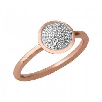Links Of London Diamond Essentials 18kt Rose Gold Vermeil & Pave Round Ring