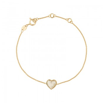 Links Of London Diamond Essentials 18kt Yellow Gold Vermeil & Pave Heart Bracelet
