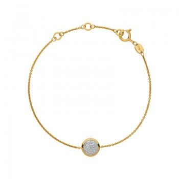 Links Of London Diamond Essentials 18kt Yellow Gold Vermeil & Pave Round Bracelet