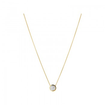 Links Of London Diamond Essentials 18kt Yellow Gold Vermeil & Pave Round Necklace