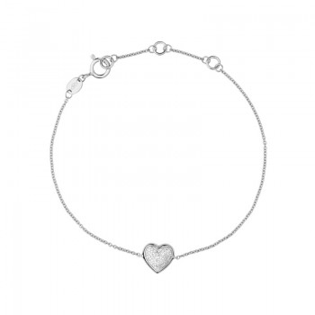 Links Of London Diamond Essentials Sterling Silver & Pave Heart Bracelet
