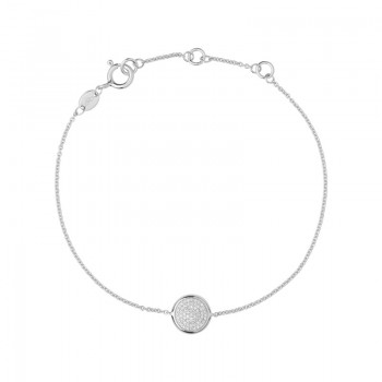 Links Of London Diamond Essentials Sterling Silver & Pave Round Bracelet