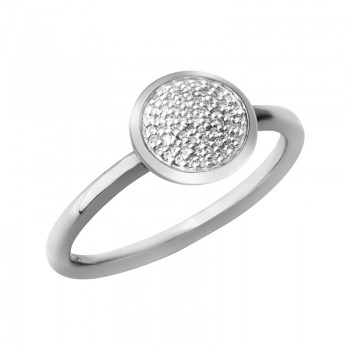 Links Of London Diamond Essentials Sterling Silver & Pave Round Ring
