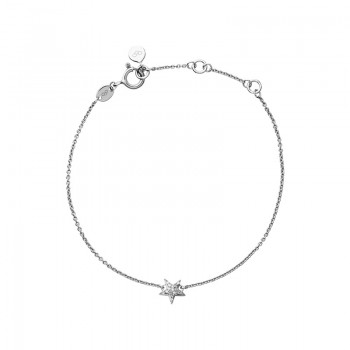 Links Of London Diamond Essentials Sterling Silver & White Pave Star Bracelet