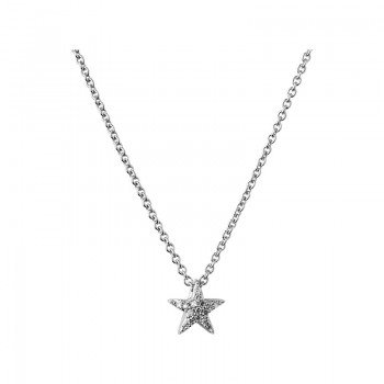 Links Of London Diamond Essentials Sterling Silver & White Pave Star Necklace