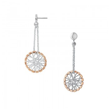 Links Of London Dream Catcher Bi-Metal Drop Earrings