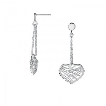 Links Of London Dream Catcher Sterling Silver Heart Drop Earrings