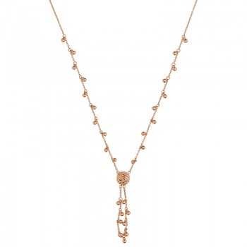 Links Of London Effervescence 18kt Rose Gold Bubble Tassle Necklace