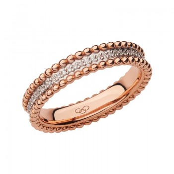 Links Of London Effervescence 18kt Rose Gold & Diamond Band Ring