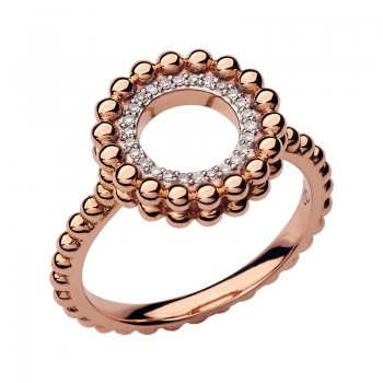 Links Of London Effervescence 18kt Rose Gold & Diamond Ring