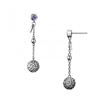 Links Of London Effervescence Bubble Sterling Silver Drop Earrings