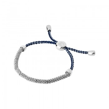 Links Of London Effervescence Sterling Silver & Blue Cord XS Bracelet