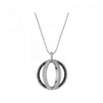 Links Of London Effervescence Sterling Silver & Blue Diamond Globe Necklace