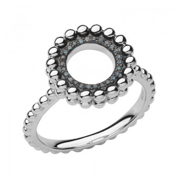 Links Of London Effervescence Sterling Silver & Blue Diamond Ring