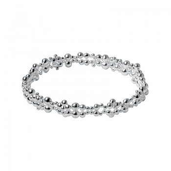 Links Of London Effervescence Sterling Silver Bubble Bangle