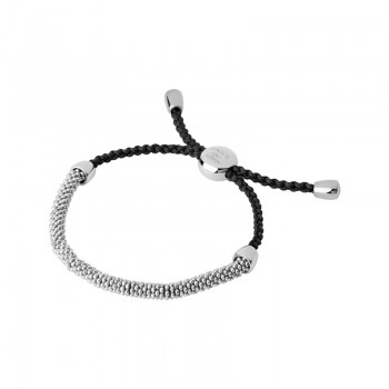 Links Of London Effervescence XS Sterling Silver & Grey Cord Bracelet