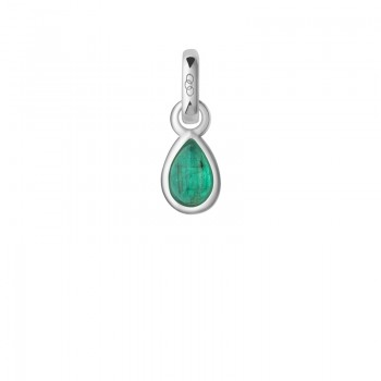 Links Of London Emerald & Sterling Silver May Mini Birthstone Charm