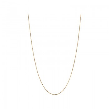 Links Of London Essentials 18kt Rose Gold 1mm Cable Chain 45cm