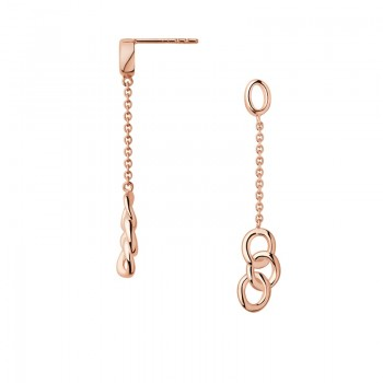 Links Of London Essentials 18kt Rose Gold Vermeil Mini Drop Earrings