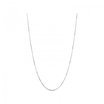 Links Of London Essentials 18kt White Gold 1mm Cable Chain 45cm