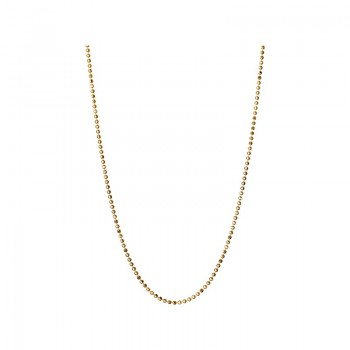 Links Of London Essentials 18kt Yellow Gold 1mm Ball Chain 45cm