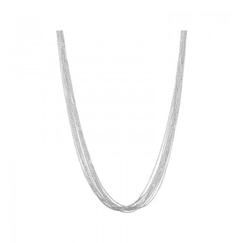 Links Of London Essentials Sterling Silver Silk 10 Row Necklace 45cm