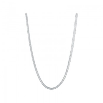 Links Of London Essentials Sterling Silver Silk 5 Row Necklace 80cm