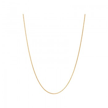 Links Of London Essentials Yellow Gold Vermeil 1.2mm Cable Chain 50cm