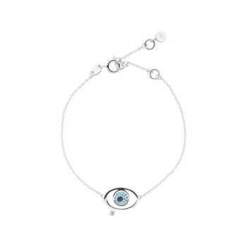 Links Of London Evil Eye Sterling Silver & Blue Topaz Bracelet