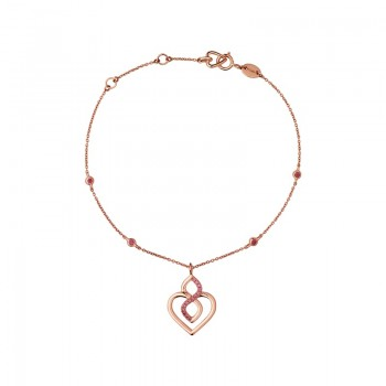 Links Of London Infinite Love 18kt Rose Gold & Garnet Bracelet