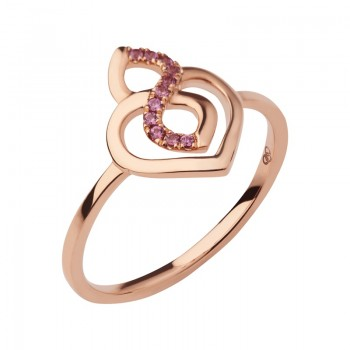 Links Of London Infinite Love 18kt Rose Gold & Garnet Ring