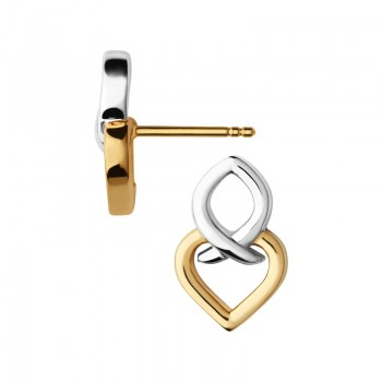 Links Of London Infinite Love Sterling Silver & 18kt Yellow Gold Vermeil Earrings