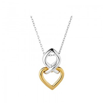 Links Of London Infinite Love Sterling Silver & 18kt Yellow Gold Vermeil Necklace